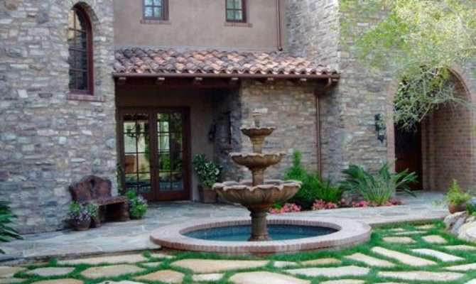 Tuscan Courtyards Home Design Ideas Remodel