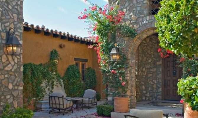 Tuscan Courtyards Houzz