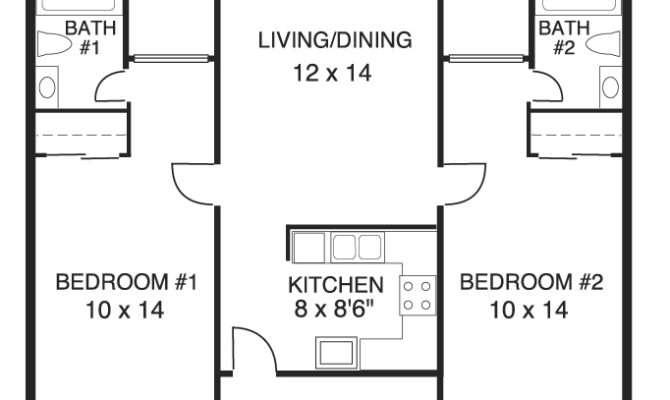 Two Bedroom Bath House Floor Plans