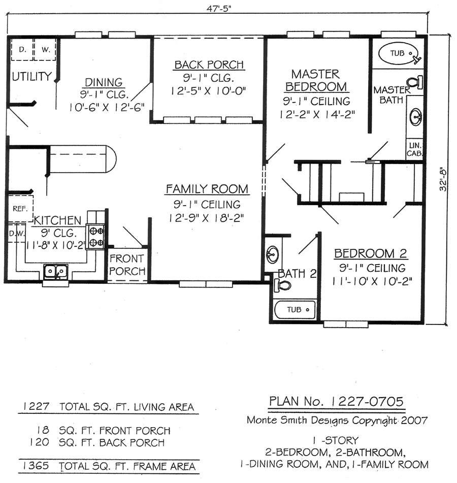 Two Bedroom Bathroom House Plans Joy Studio Design