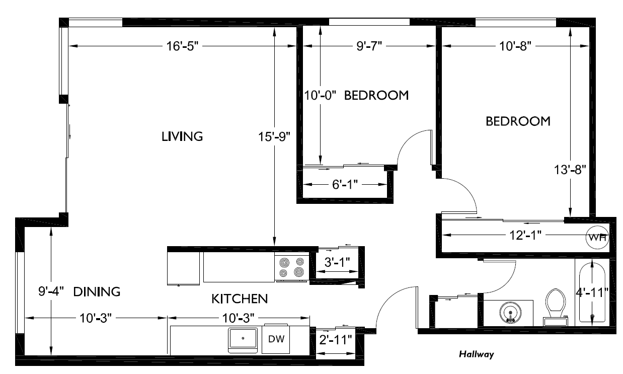 Two Bedroom House Floor Plans Best Popular