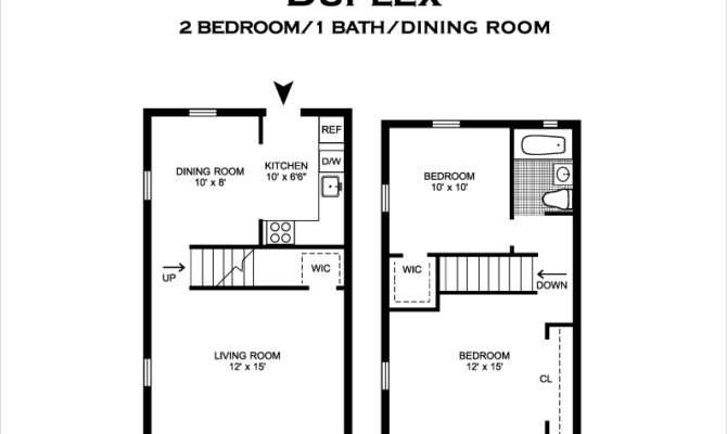 Two Bedroom One Bath Townhomes Feature Contemporary Open Kitchen
