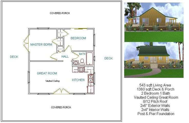 Two Bedroom Plan Mostly Small Houses Pinterest Cabin Floor