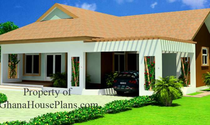 Two Bedrooms House Plan Ghana Nigeria Liberia All