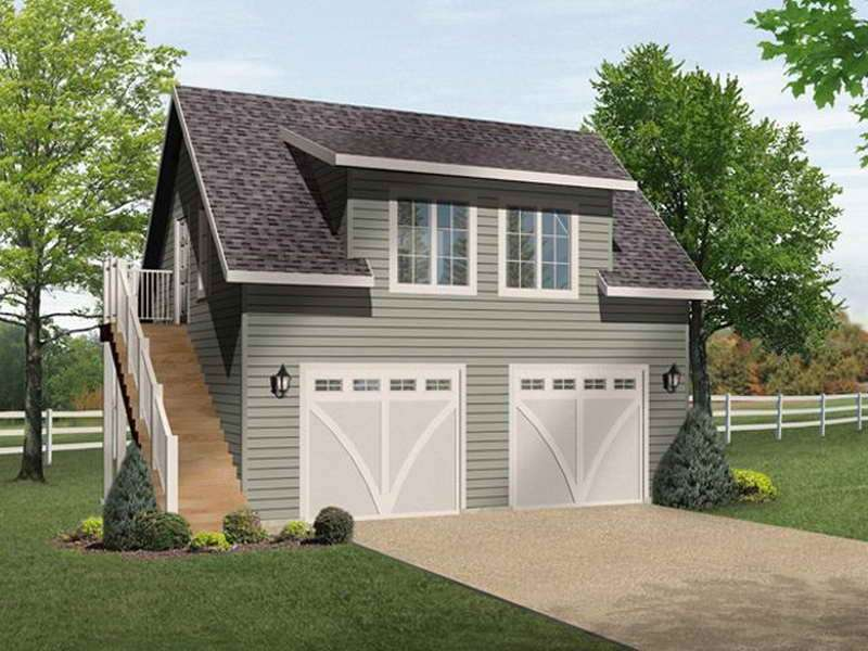 Two Car Garage Plans Loft Storage