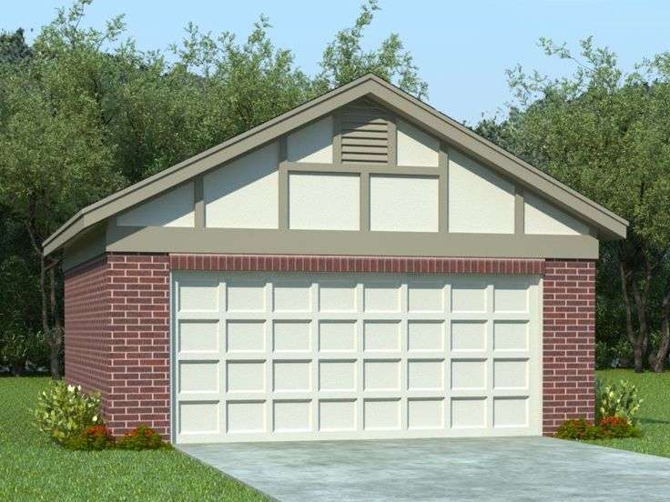Two Car Garage Plans Plan Reverse