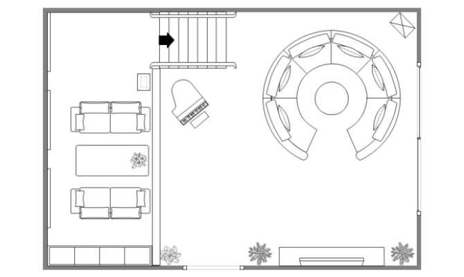 Two Floor Living Room Plan