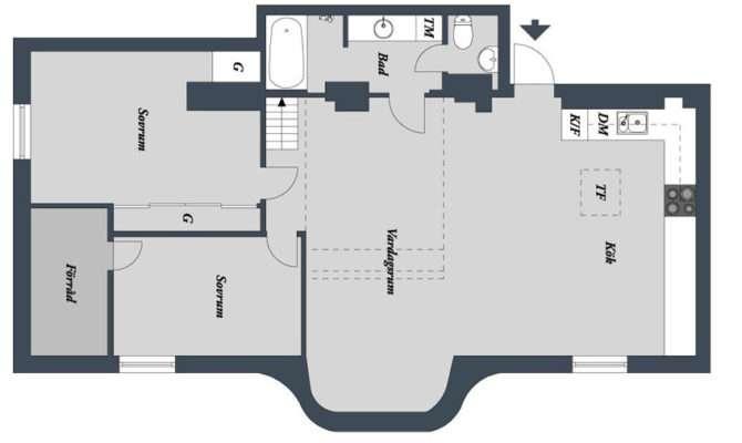Two Level Loft Apartment Swedish Style