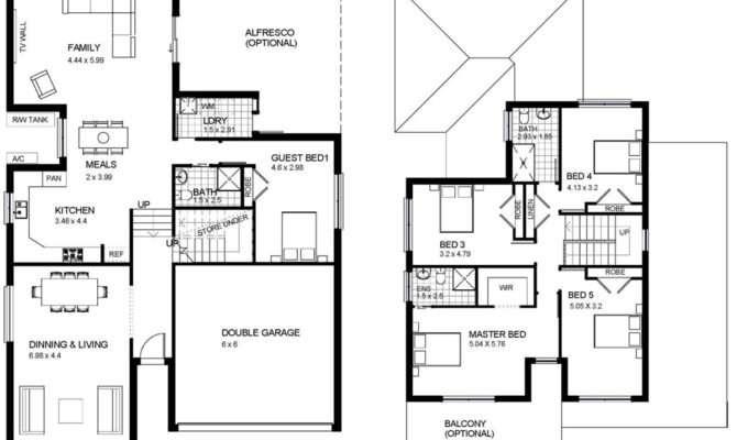 Two Storey House Design Floor Plan Modern