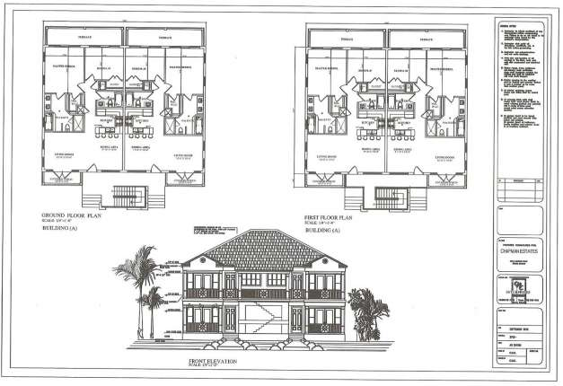 Two Storey Residential House Floor Plan Elevation