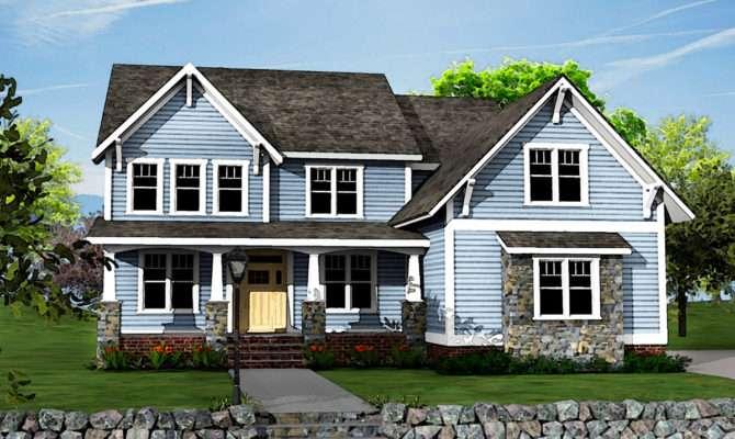 Two Story Craftsman House Plan Optional Bonus Room