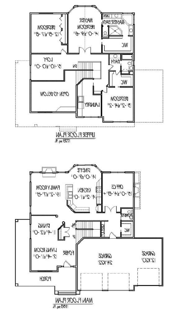 Two Story Home Plans Open Floor Plan Inspirational