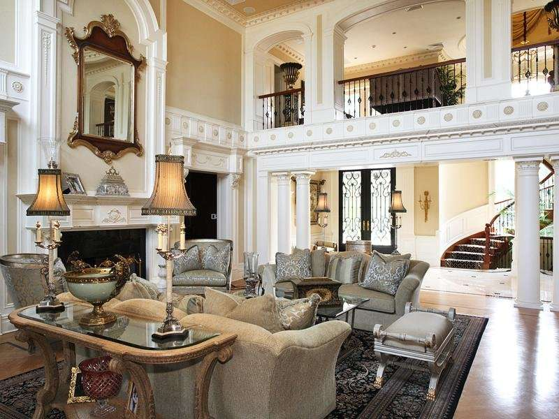Two Story Living Room Decorating Ideas Window