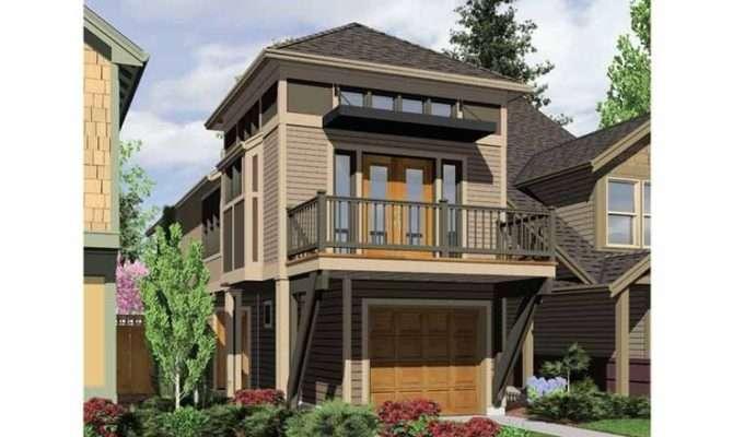 Two Story Narrow House Plan Florida Ideas Pinterest