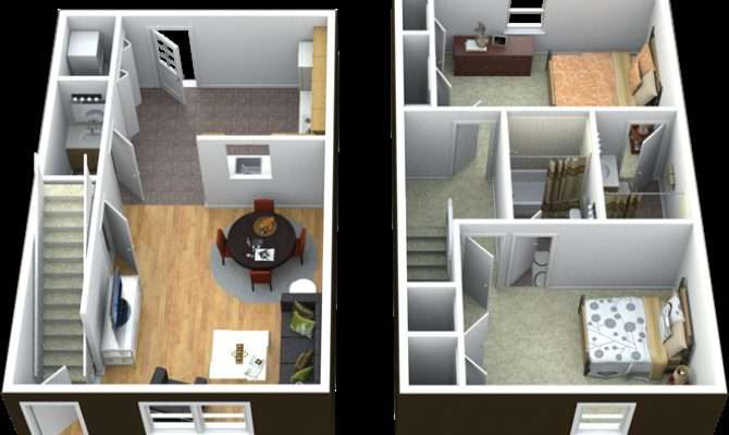 Two Story Townhome Bedrooms