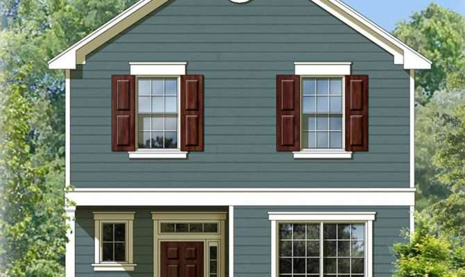 Two Story Traditional House Plan Architectural