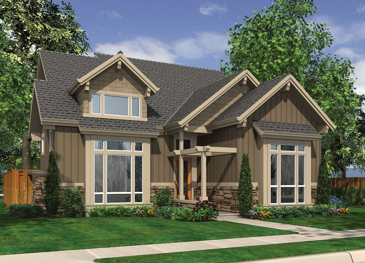 Two Story Vaulted Great Room Floor Master Suite Cad