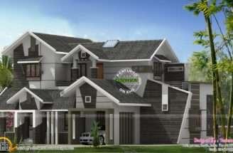 Unique Bhk Contemporary House Kerala Home Design Floor Plans