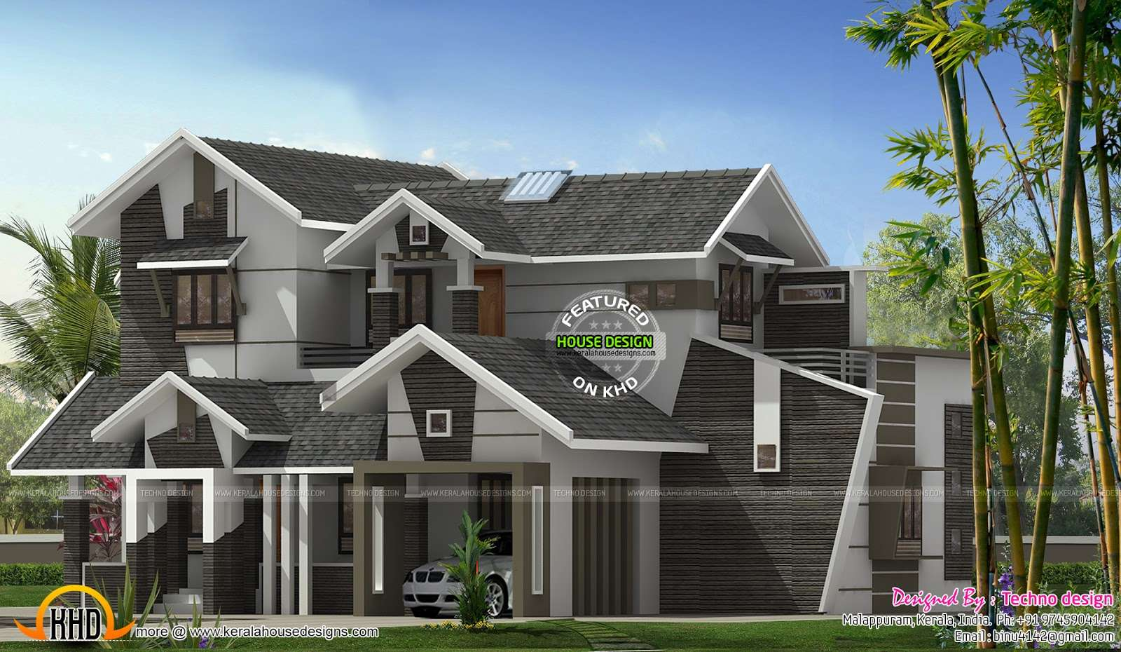Unique Bhk Contemporary House Kerala Home Design Floor Plans