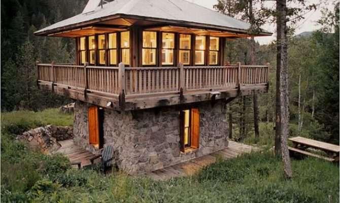 Unique Cabins Woods Pics Izismile