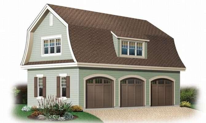 Unique Garage Plans Car Plan Gambrel Roof House