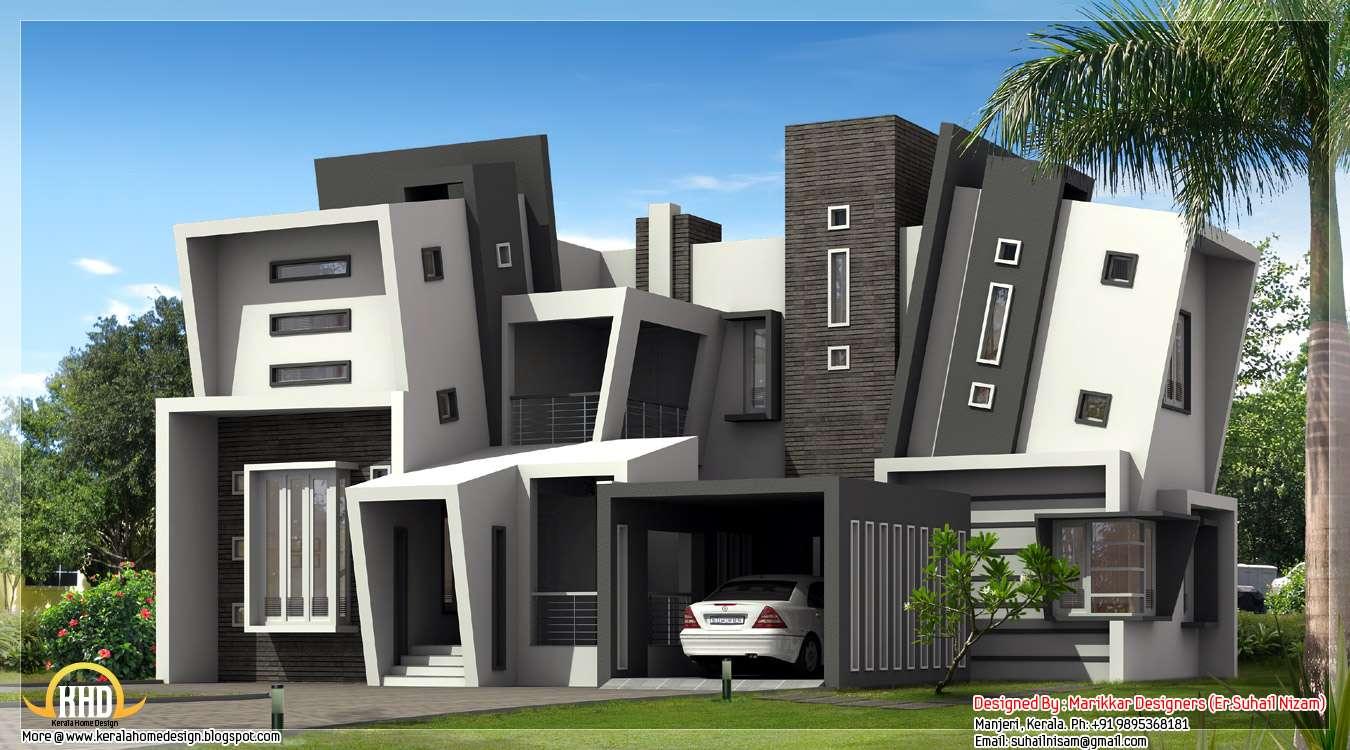 Unique Modern House Design Marikkar Designers Manjeri Kerala