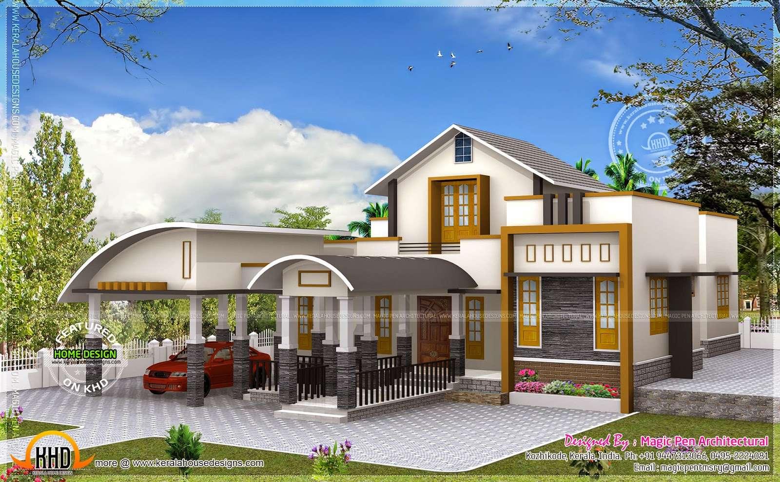 Unique One Floor Home Kerala Design Plans