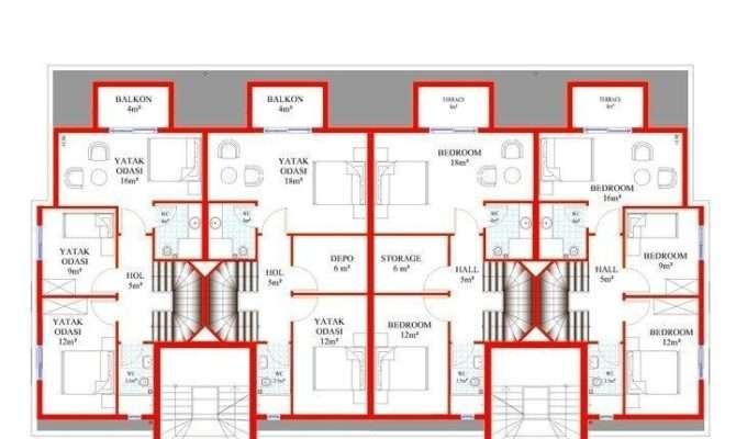 Unique Plans Duplex Apartments Building