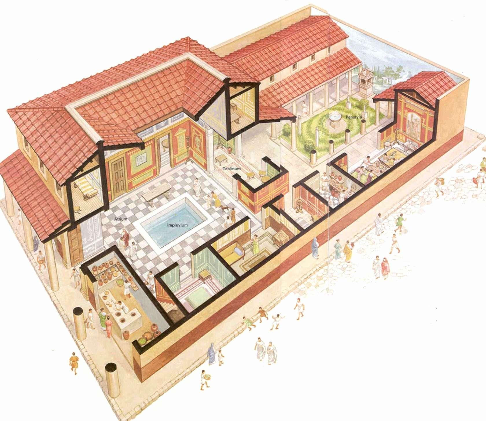 Unique Roman Villa Floor Plan House Plans Ideas Photos
