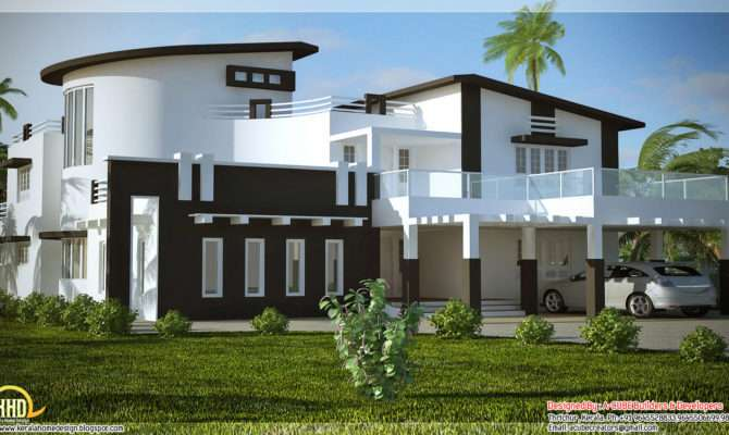 Unique Stylish Trendy Indian House Elevation Kerala Home Design