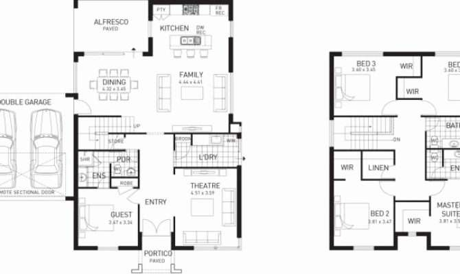 Unique Two Story House Plans Terrace Home