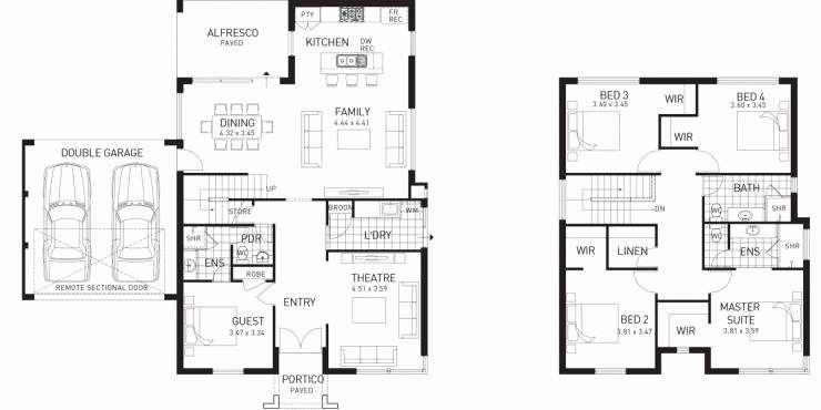 Unique Two Story House Plans Terrace Home