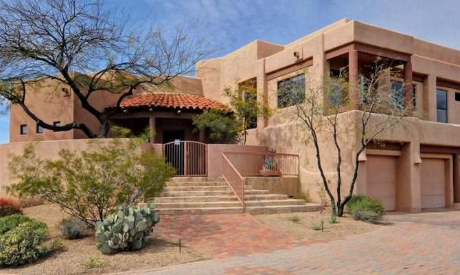 United States Arizona Cozy Southwest Adobe Style Home Desert