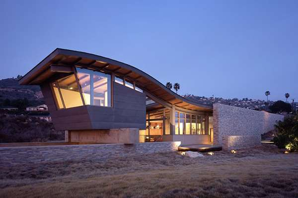 Unusual Roof Design Adds Interest Beach House