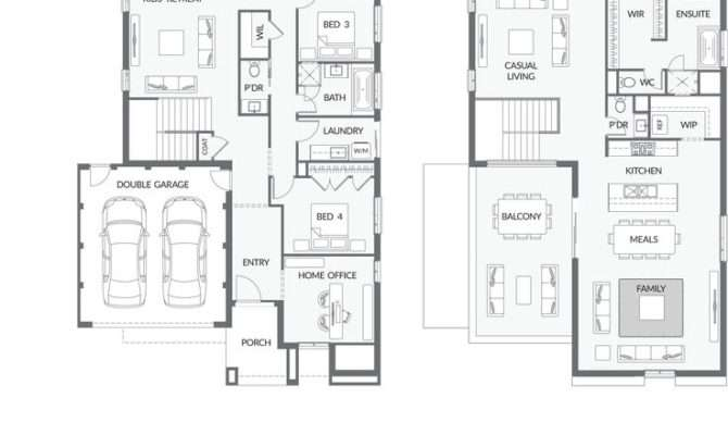 Upside Down Living House Plans
