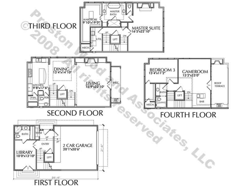 Urban Loft Townhomes Luxury Townhouses Brownstone Floor Plans