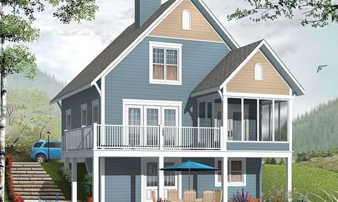 Vacation House Plans Two Story Home Plan
