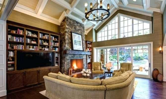 Vaulted Ceiling Fireplace Comptest