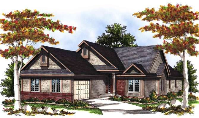 Vaulted Great Room House Plan Floor Master