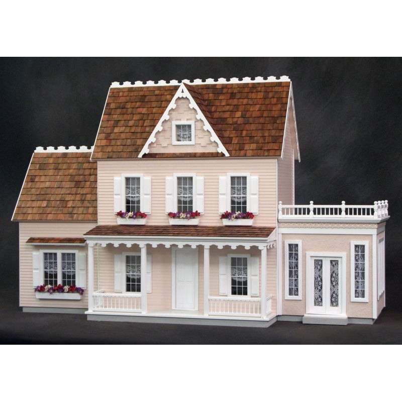 Vermont Farmhouse Dollhouse Kit Milled Plywood