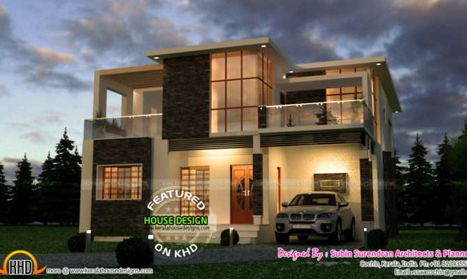 Very Attractive Modern House Kerala Home Design Floor