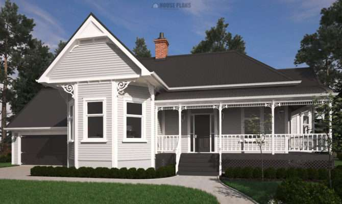 Victorian Bay Villa House Plans New Zealand Ltd