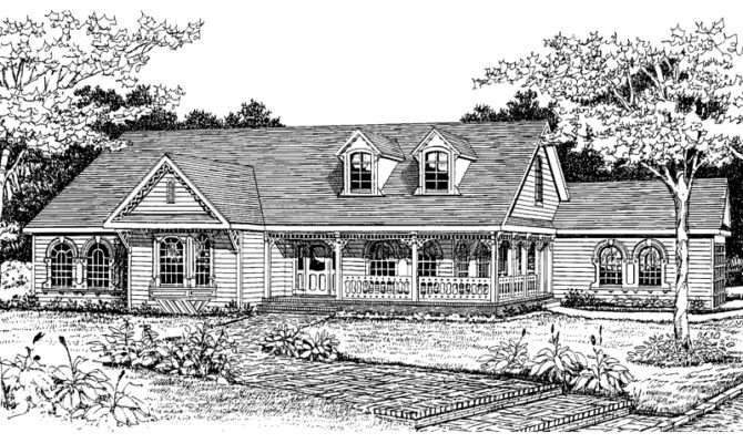 Victorian Country Ranch Home Plan House Plans