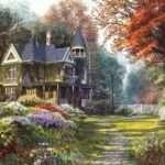 Victorian Garden Painting Dominic Davison Piece Jigsaw Puzzle