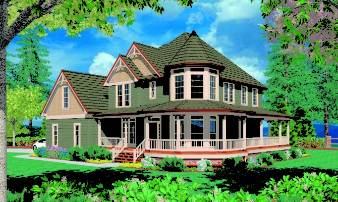 Victorian Wrap Around Porch Maverick Custom Homes