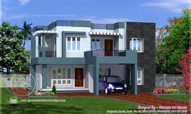 Villa Elevation Designed Vismaya Visuals Ambalapuzha Alappuzha