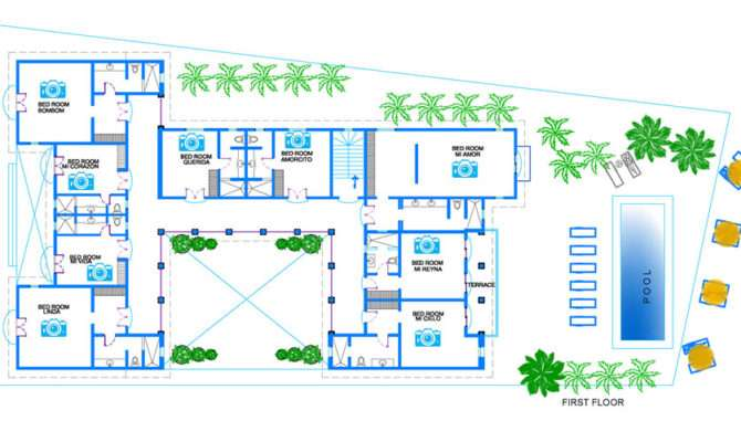 Villa Hacienda Corazon Puerto Aventuras Second Floor Plan