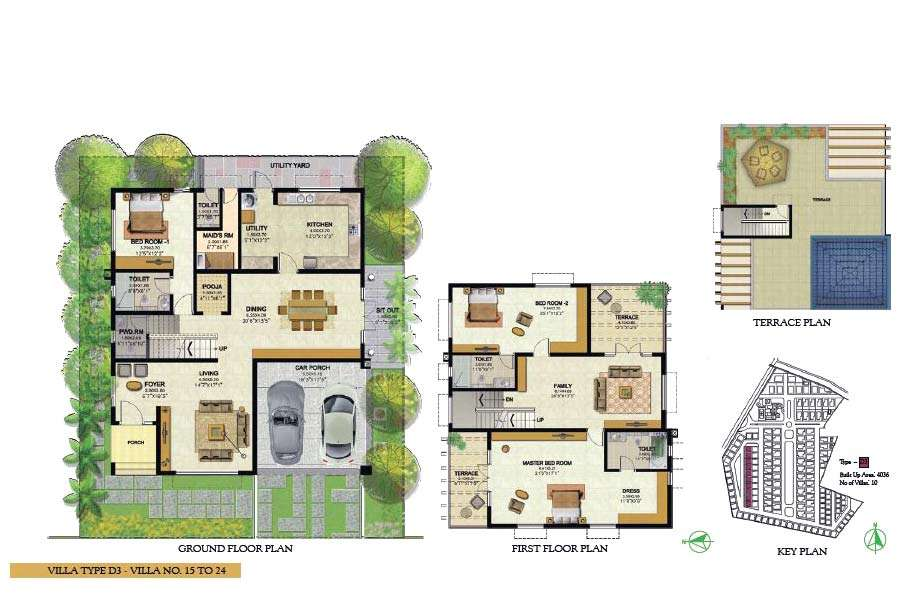 Villa Type Ground Floor Plan First