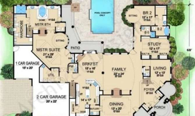 Villa Visola Mediterranean House Plan Luxury