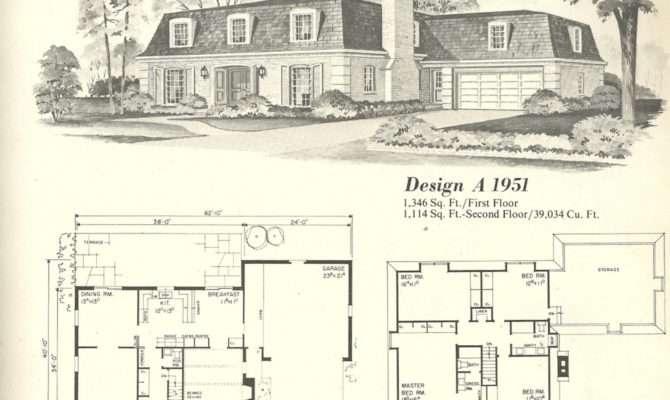 Vintage House Plans French Mansards Antique Alter Ego